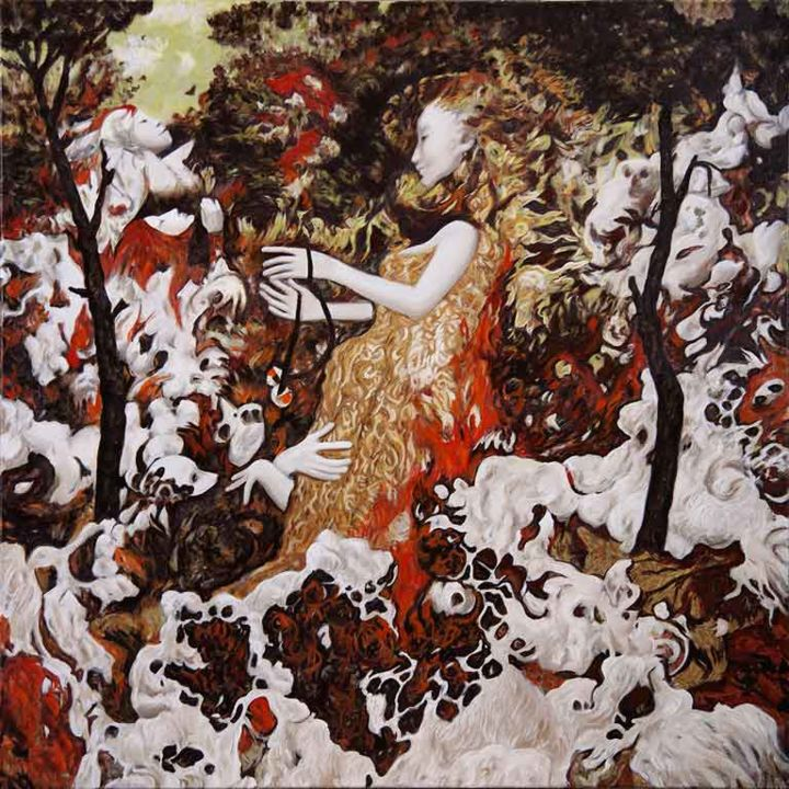 domination-oil-on-canvas-70x70cm-2014.jpg - Painting, ©2015 by Pavel Guliaev -