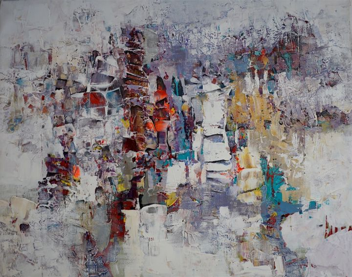 """Painting titled """"Out of Sight - Abst…"""" by Paul Ygartua, Original Art, Acrylic"""