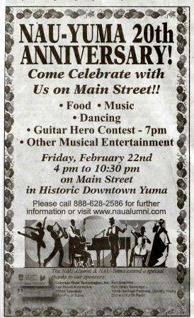 NAU-Yuma 20th Anniversary Celebration - Friday February 22, 2008