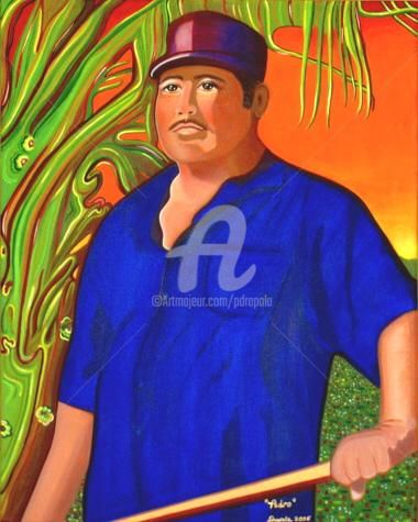 Pedro - Painting,  30x24 in ©2005 by Drapala Gallery -