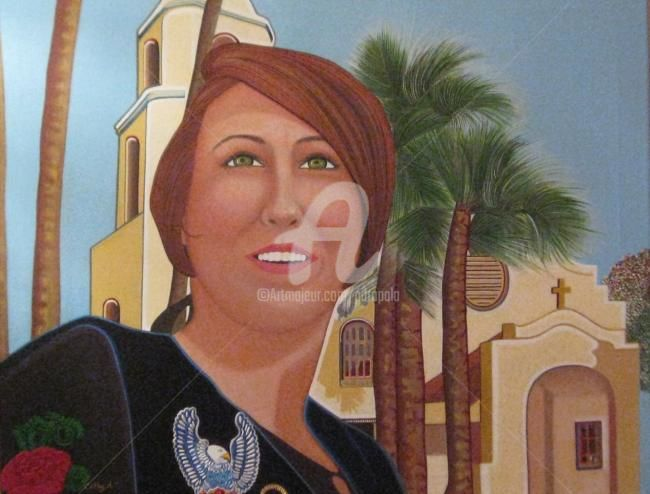 """Painting titled """"Cathy A. at St. Tho…"""" by Drapala Gallery, Original Art,"""