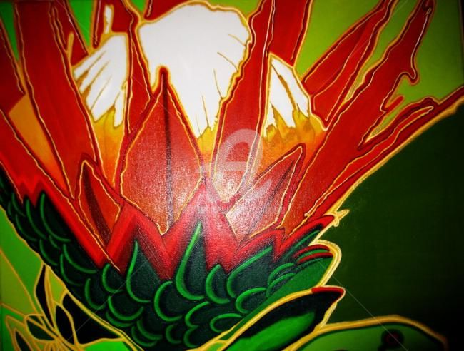 """Photography titled """"""""Protea"""""""" by Drapala Gallery, Original Art,"""