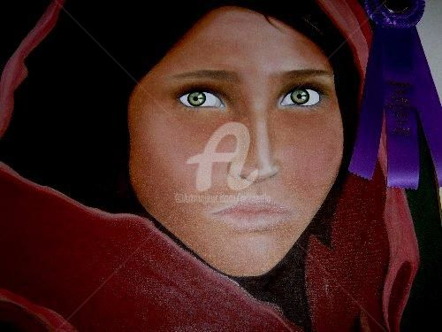"""Photography titled """"Green Eyed Girl"""" by Drapala Gallery, Original Art,"""
