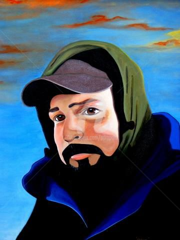 Field Worker Series - Adam - Painting,  30x24 in, ©2004 by Drapala Gallery -                                                                                                                                                                          Figurative, figurative-594, Migrant Field Worker Painting