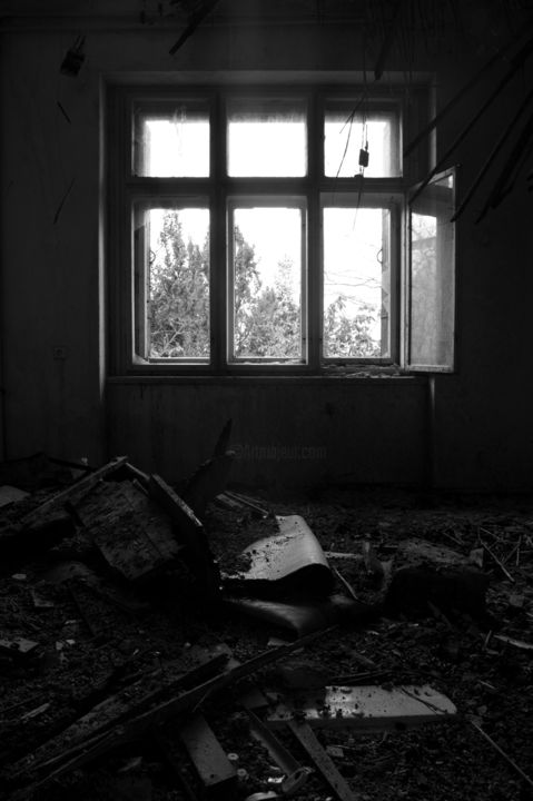 """Photography titled """"In the sanatorium -…"""" by Pedro Noir, Original Art, Digital Photography Mounted on Stretcher frame"""