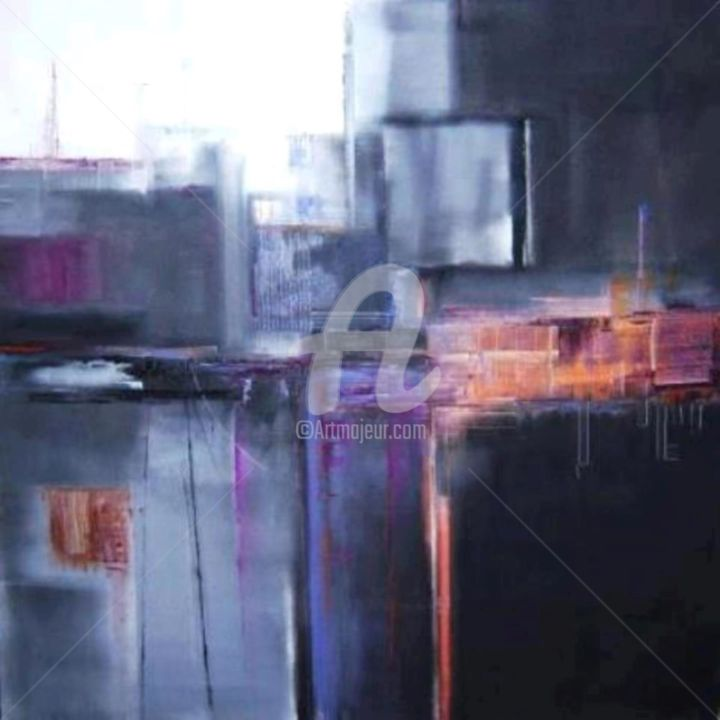Art abstrait - Peinture,  31,5x31,5x31,5 in, ©2015 par Patricia Dumont -                                                                                                                                                                          Abstract, abstract-570, Architecture
