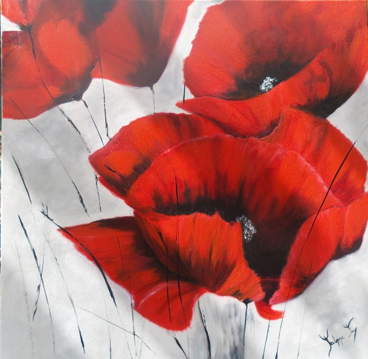 Coquelicots - Painting ©2017 by Sabine -