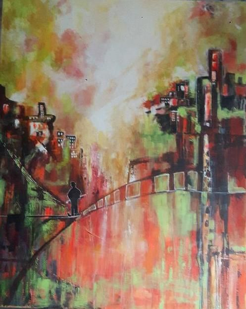 Painting, acrylic, artwork by Penny Gp