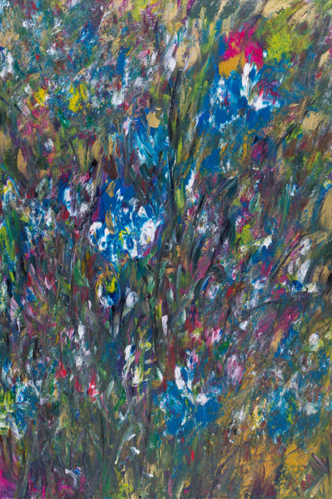 Colours of 2017 - Painting,  35.4x23.6x0.6 in, ©2017 by Pen'Ny -                                                                                                                                                                                                                                                                                                                                                                                                                                                      Impressionism, impressionism-603, Nature, abstract, colours, impressionism, inspirations, meditations, art therapy