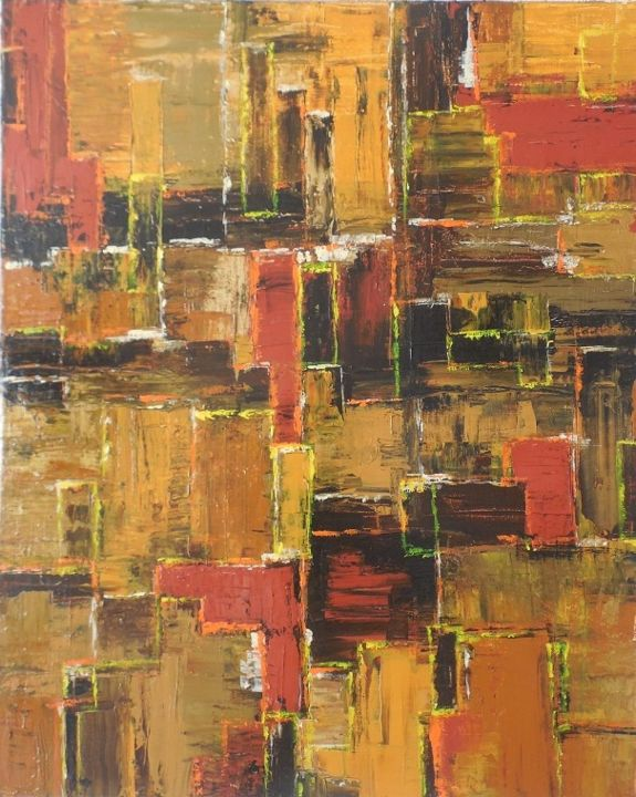 Terres Brunes - Painting,  31.9x25.6x0.8 in, ©2020 by Jeanne-Marie Delbarre -                                                                                                                                                                                                                          Abstract, abstract-570, Abstract Art, abstrait