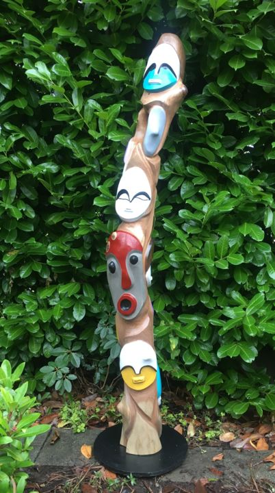 """Sculpture titled """"Family Tree"""" by Peter Lattey, Original Art, Wood"""