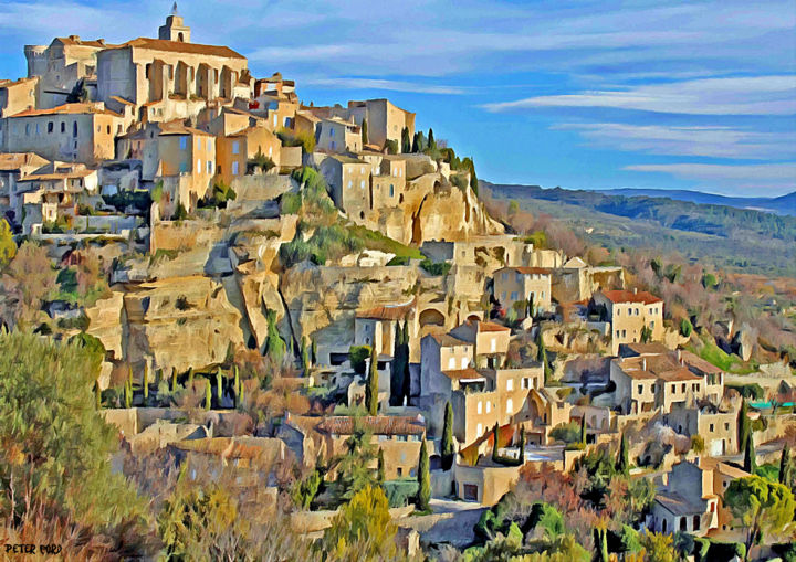 gordes vaucluse provence alpes c te d 39 azur france prints for sale. Black Bedroom Furniture Sets. Home Design Ideas