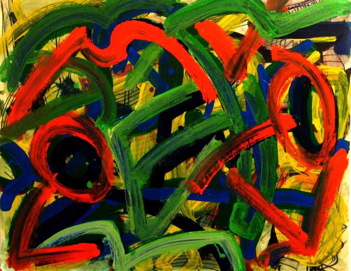 """Painting titled """"All weeds in forepl…"""" by Peter Jalesh, Original Art, Acrylic"""