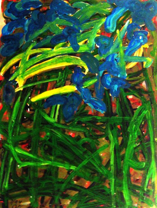"""Painting titled """"Those leaves have d…"""" by Peter Jalesh, Original Art, Acrylic"""