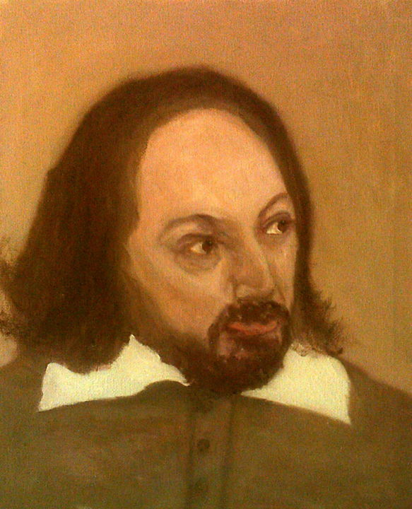 """Painting titled """"David Mitchell As S…"""" by Peterpaints ., Original Art, Oil"""