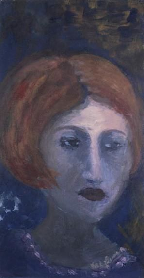 DAME ROUSSE - Painting, ©1986 by France Quenneville -