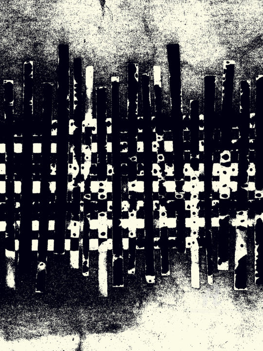Downloadable Poster #44 - Digitale Künste, ©2019 von Petr Strnad -                                                                                                                                                                                                                                                                                                                                                                                                                                                                                                                                                                                                                                                                                                                                                                                                                                                                                                                                                                                                                                                                                                                                                                                                                                                                                                                          Abstract, abstract-570, Abstrakte Kunst, irregular, monochrome, shapes, grunge, grungy, abstract, image, picture, print, file, handmade, handcrafted, graphic, design, artistic, decorative, decoration, creative, grain, noise, media, publishing, advertising, wall art, new media