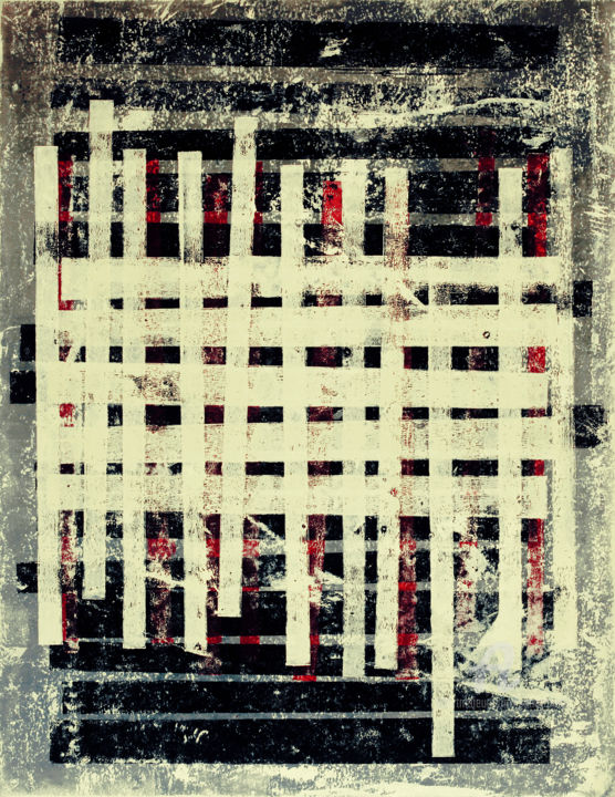 """Painting titled """"Position VII."""" by Petr Strnad, Original Art, Acrylic"""