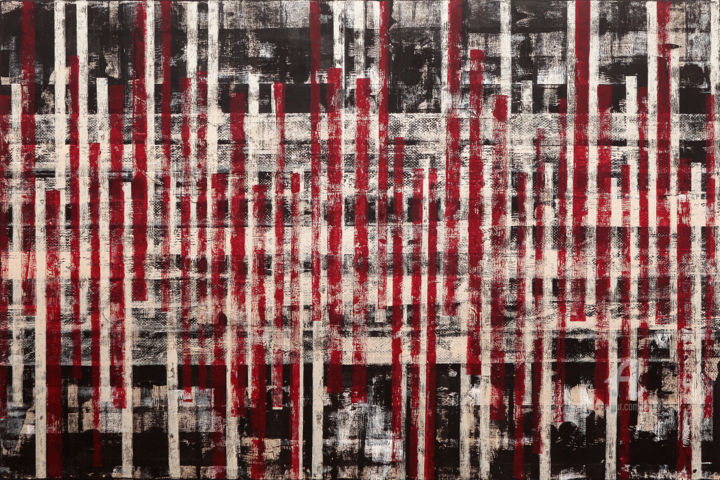 """Painting titled """"Position X."""" by Petr Strnad, Original Art, Acrylic"""