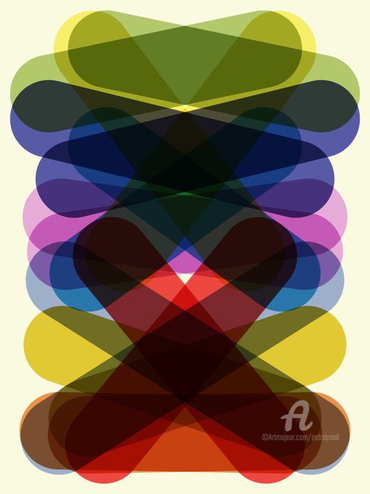 Format #198 - Arts numériques,  20x15 in, ©2019 par Petr Strnad -                                                                                                                                                                                                                                                                                                                                                                                                                                                                                                                                                                                                                                                                                                                                                                                                                                                                                                                                                                                                                                                                                                                                          Abstract, abstract-570, Art abstrait, Géométrique, abstract, background, geometric, shapes, pattern, wall art, graphic, design, decorative, decoration, creative, vertical, colorful, edition, non-figurative, overlapping, transparent, giclee, print, vector
