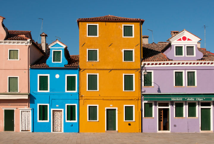 """Photography titled """"Colourful Houses in…"""" by Petr Svarc, Original Art,"""