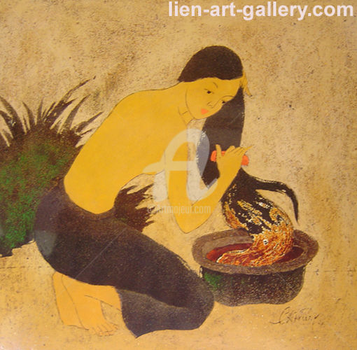 """Painting titled """"Beauty simplicity O…"""" by Pham Chinh Trung, Original Art, Other"""