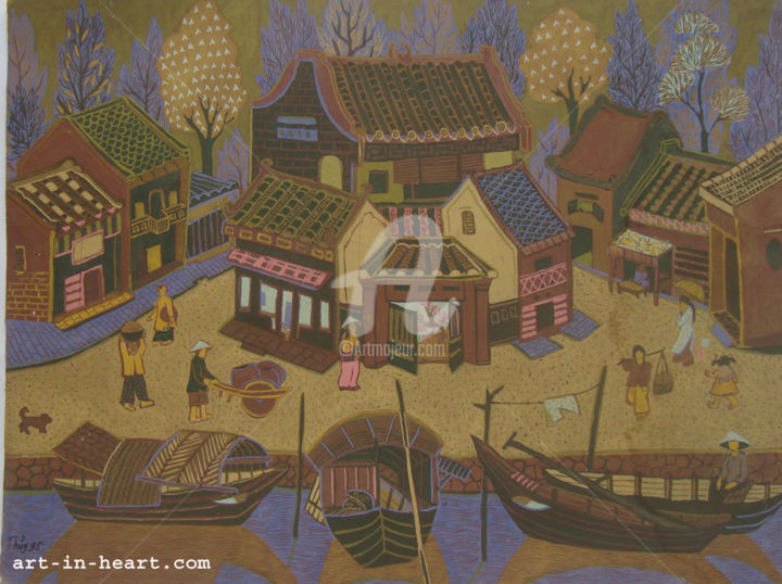 """Painting titled """"Hoi an ancient  Vie…"""" by Pham Viet Hong Lam, Original Art, Other"""