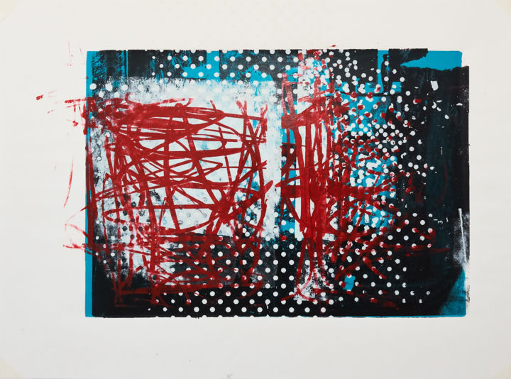 """Printmaking titled """"MEMORY SCAPE 1003"""" by Phil Constable, Original Art, Screenprinting"""