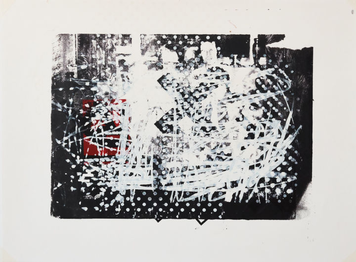 """Printmaking titled """"MEMORY SCAPE 1004"""" by Phil Constable, Original Art, Screenprinting"""