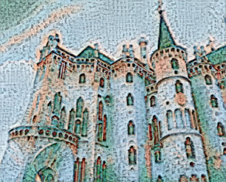 """Digital Arts titled """"Castles in the Air"""" by Phil 'Philosofree' Cheney, Original Art, Digital Painting"""