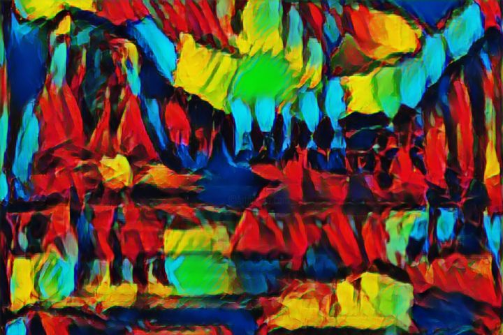 """Digital Arts titled """"Evening in the Vall…"""" by Phil 'Philosofree' Cheney, Original Art, Digital Painting"""
