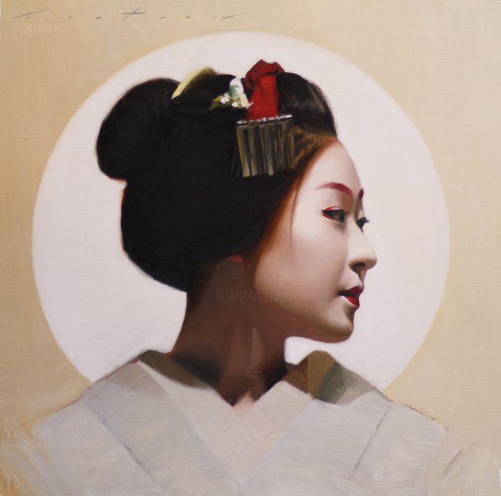 """Painting titled """"Katsunosuke"""" by Phil Couture, Original Art, Oil"""