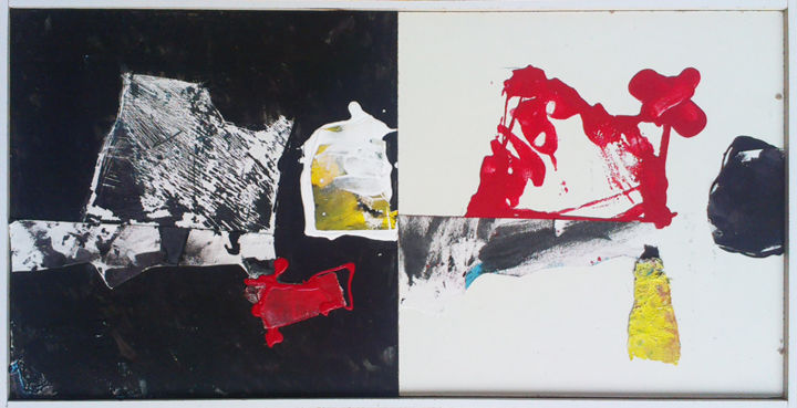 2 canvas (inclusion) - Painting,  25x2x50 cm ©2013 by Philippe ALLIOUX -                        Contemporary painting