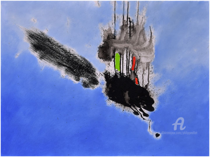 Suspension - Painting,  23.6x31.5 in, ©2019 by Philippe ALLIET -                                                                                                                                                                                                                                                                                                                                                                                                                                                                                                                                              Abstract, abstract-570, Abstract Art, Abstract art, oil on canvas, Philippe Alliet, Alliet Philippe, Alliet, PHILIPPE ALLIET, ALLIET, ALLIET PHILIPPE