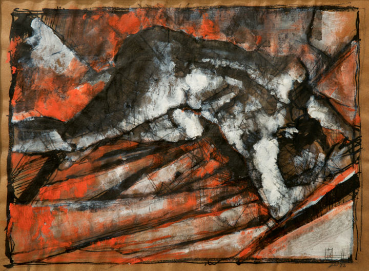 Etude - Painting,  27.5x37 cm ©2015 by Amirault -