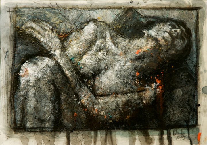 Sans titre - Painting ©2015 by Amirault -