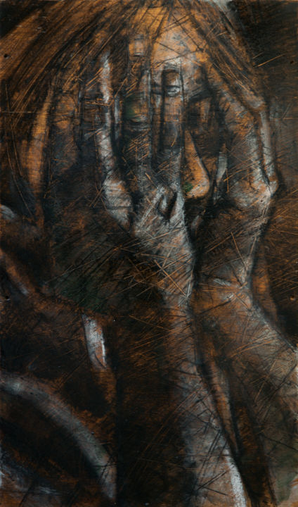 Sans titre - Painting, ©2015 by Amirault -