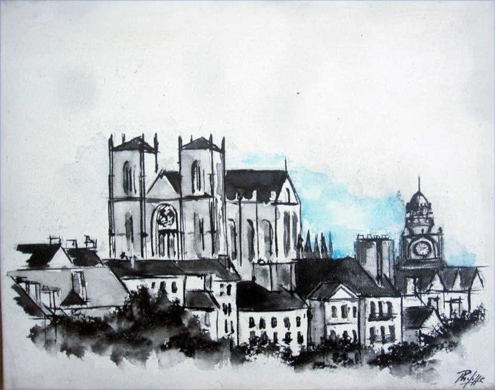 fr artist philippeblanchard collection nantes  artwork et sa cathedrale