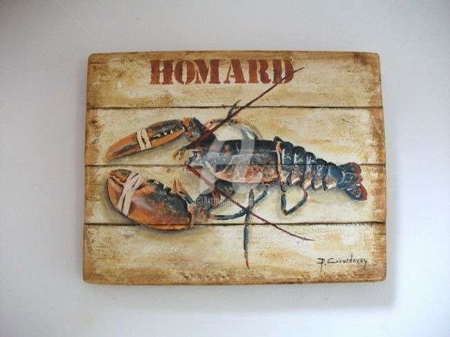 LE HOMARD - Painting ©2012 by Philippe Coeurdevey -