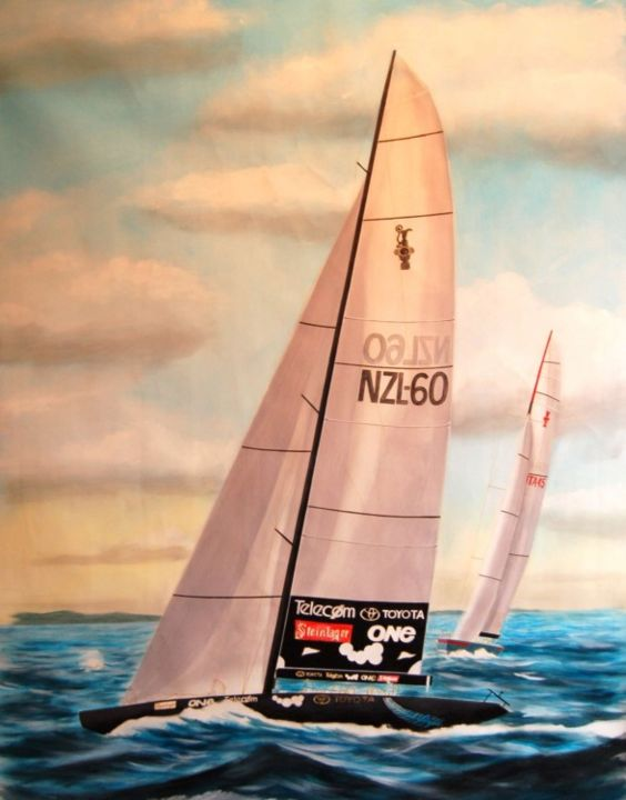NEW ZEALAND - Painting, ©2008 by Philippe Conrad -