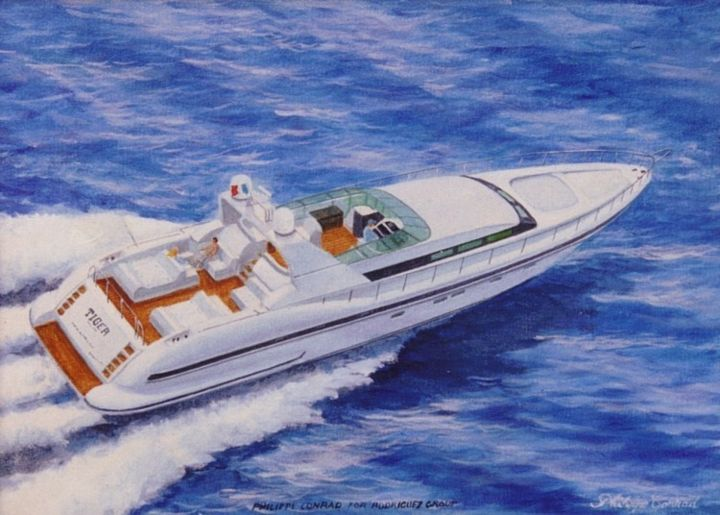 rodriguez-group-mangusta-80-30x40-oil.jpg - Painting, ©2014 by Philippe Conrad -