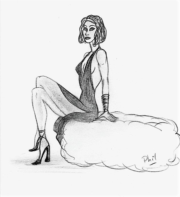 Fashion 4 - Drawing ©2008 by Philippe Leclerc, graphiste -
