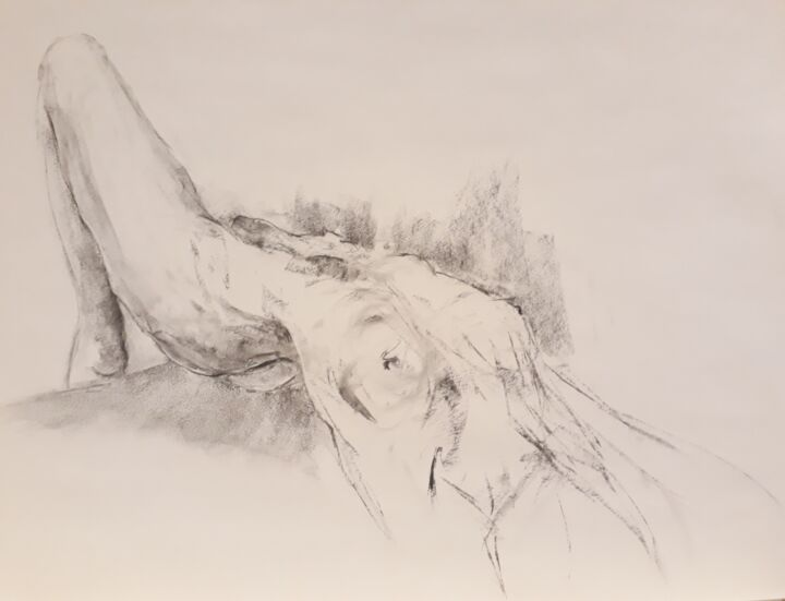 """Drawing titled """"Perspective"""" by Philms, Original Art, Charcoal"""