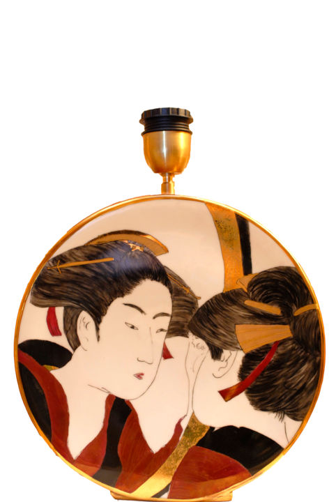Lampe Japonaise Painting By Phiphi Artmajeur