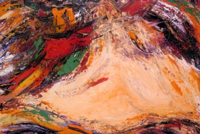The first continent - Painting,  57.1x61 in, ©2008 by Photini Marakakis -                                                              Oil on canvas