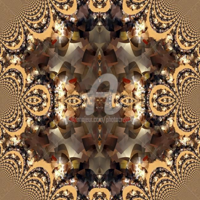 Digital Art,  60 x 60 cm ©2012 by Josiane Karanian Boularot -  artwork_cat.Digital Art, Fractales