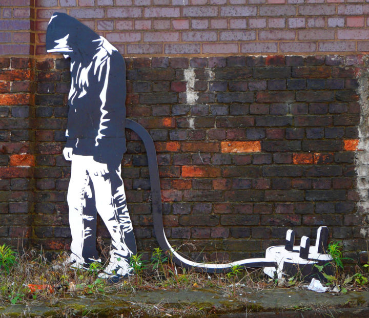 Banksy woz ere, wozn't ee? - Design ©2014 by Kevin Lee -