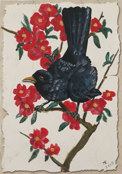 Crow on a branch - © 2019  Online Artworks