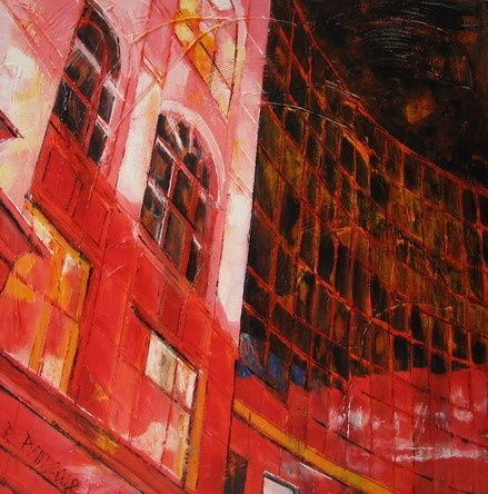 The Place - Painting,  19.7x19.7x1 in, ©2008 by Barbara Piatti -