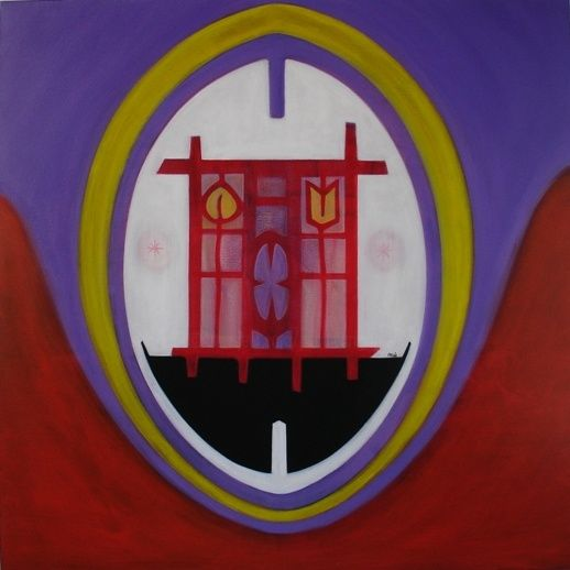 without (the gate) - Painting,  31.5x31.5 in, ©2007 by Pier Maurizio Greco -